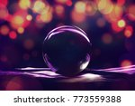 glass ball with abstract light... | Shutterstock . vector #773559388