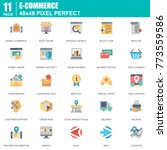 flat online shopping and e... | Shutterstock .eps vector #773559586