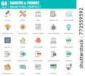 flat banking and finance icons... | Shutterstock .eps vector #773559592