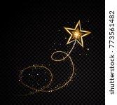 gold glittering spiral star... | Shutterstock .eps vector #773561482