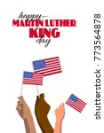 happy martin luther king day... | Shutterstock .eps vector #773564878