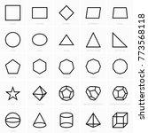 geometric figures icons | Shutterstock .eps vector #773568118