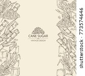 background with sugarcane  cane ... | Shutterstock .eps vector #773574646