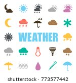 weather icons set | Shutterstock .eps vector #773577442
