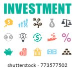 investment icons set | Shutterstock .eps vector #773577502