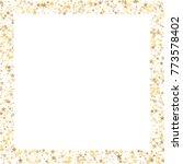 sparkling gold stars frame or...   Shutterstock .eps vector #773578402