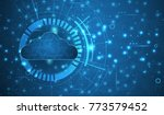 modern cloud technology.... | Shutterstock .eps vector #773579452