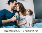 a photo session of a guy and a... | Shutterstock . vector #773584672