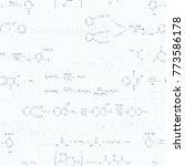 a lot of basic chemical... | Shutterstock .eps vector #773586178