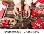 present box in woman's hands   Shutterstock . vector #773587342