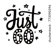 just go. hand drawn black and... | Shutterstock .eps vector #773590396