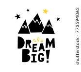 dream big. vector graphic... | Shutterstock .eps vector #773594062
