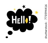 hello  vector cute poster with... | Shutterstock .eps vector #773594416
