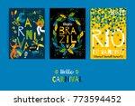 brazil carnival. vector... | Shutterstock .eps vector #773594452