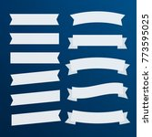 banners flat isolated. ribbons... | Shutterstock . vector #773595025