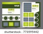 business flyer design template. ... | Shutterstock .eps vector #773595442
