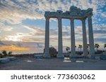 ancient apollo temple building... | Shutterstock . vector #773603062