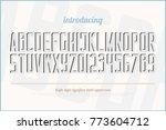 3d effect style alphabet... | Shutterstock .eps vector #773604712