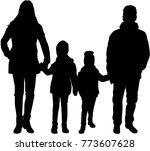 family black silhouettes.   Shutterstock .eps vector #773607628