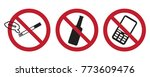 prohibition sign or no sign... | Shutterstock .eps vector #773609476