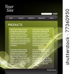 eps10 vector website template...   Shutterstock .eps vector #77360950
