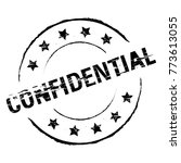 rubber stamp confidential... | Shutterstock .eps vector #773613055