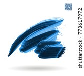blue brush stroke and texture.... | Shutterstock .eps vector #773617972