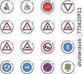 line vector icon set   disabled ... | Shutterstock .eps vector #773620912