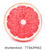 perfectly retouched sliced half ... | Shutterstock . vector #773629462