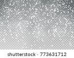 vector realistic isolated snow... | Shutterstock .eps vector #773631712