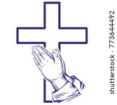 praying hands   symbol of... | Shutterstock .eps vector #773644492