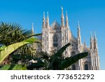 milan  italy  view of cathedral ...   Shutterstock . vector #773652292