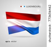 luxembourg 3d style glowing... | Shutterstock .eps vector #773656462