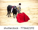 the enraged bull attacks the... | Shutterstock . vector #773662192
