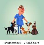 vet doctor character with cats... | Shutterstock .eps vector #773665375