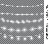 christmas light garland.... | Shutterstock .eps vector #773669782