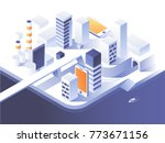 augmented reality concept.... | Shutterstock .eps vector #773671156