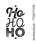ho ho ho logo isolated on white ... | Shutterstock .eps vector #773677105