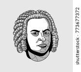 johann sebastian bach. vector... | Shutterstock .eps vector #773677372