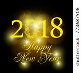 2018 new year shining banner.... | Shutterstock .eps vector #773687908