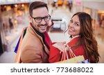 beautiful young couple enjoying ... | Shutterstock . vector #773688022