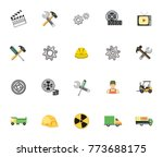 industrial icon set | Shutterstock .eps vector #773688175