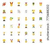 winner icons set | Shutterstock .eps vector #773688202