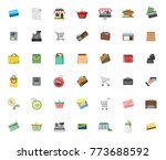 commerce icon set | Shutterstock .eps vector #773688592