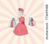 Cat Woman Shopping ...