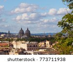 panorama of rome with domes of... | Shutterstock . vector #773711938