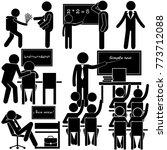 education at school. weekdays... | Shutterstock .eps vector #773712088