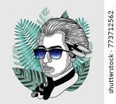 hipster classical portrait of... | Shutterstock .eps vector #773712562