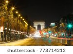 the triumphal arch andchamps... | Shutterstock . vector #773714212