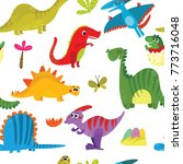 lovely seamless pattern with... | Shutterstock .eps vector #773716048